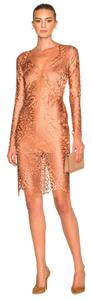 Mason by Michelle Mason Cocktail Wedding Pink Nude Sexy Dress