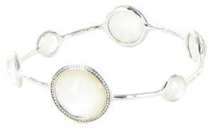 Ippolita Stella 6 Stone Bangle Bracelet 0.51cts Diamonds Quartz Mother of Pearl