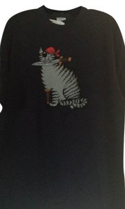 Crazy Shirts Kliban Cat Hawaiian T Shirt Black