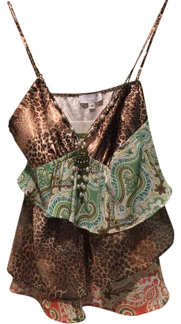 Preload https://img-static.tradesy.com/item/20729987/symmetry-paisleyleopard-tiered-blouse-night-out-top-size-4-s-0-1-650-650.jpg