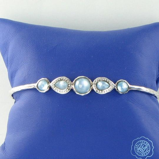 Ippolita Stella Bangle Bracelet Double Tiara Blue Topaz Diamond MOP Sterling
