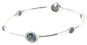 Ippolita Stella Bracelet Diamond 0.24cts Hematite Doublet Bangle Sterling