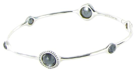 Preload https://img-static.tradesy.com/item/20730023/ippolita-diamond-hematite-sterling-silver-stella-024cts-doublet-bangle-bracelet-0-1-540-540.jpg