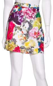 Alice + Olivia Mini Skirt Floral Print
