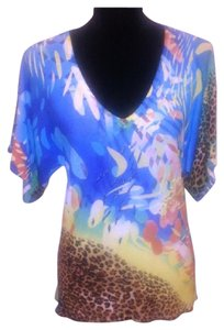Alberto Makali Leopard Beaded Top Multi