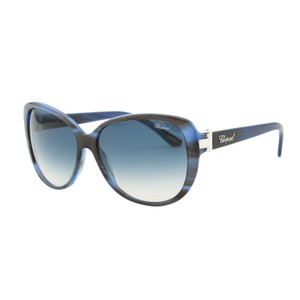 Chopard NEW Chopard SCH 129S WTG Women Butterfly Oval Blue Sunglasses 56mm