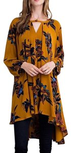 Southern Girl Fashion Bohemian Festival Swingy Print Classic Cape Printed High Low Tunic