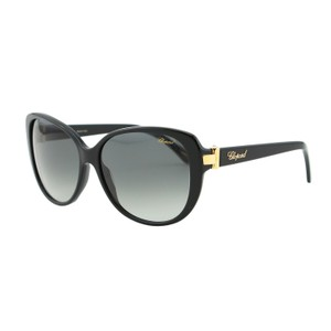 Chopard NEW Chopard SCH 129S 700 Women Butterfly Oval Black & Gold Sunglasses