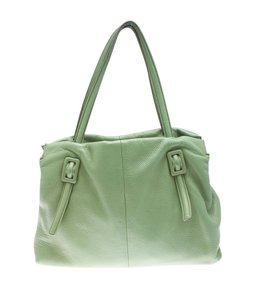 Roger Vivier Leather Tote in Green