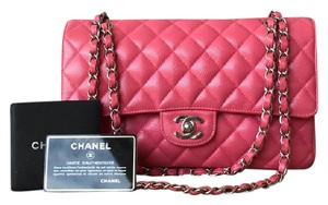 Chanel Caviar Medium Flap Turn Lock Shoulder Bag