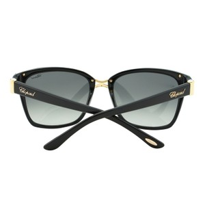 Chopard NEW Chopard SCH 128S 700 Women Square Black Gold Swarovski Sunglasses