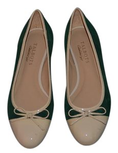Talbots Kelly Green and Tan Flats