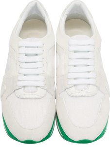 Burberry White/Green Athletic