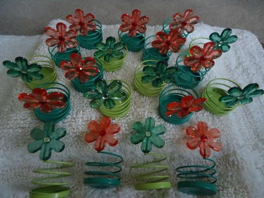 Preload https://img-static.tradesy.com/item/20730538/green-teal-orange-20-gem-flower-tea-light-holders-reception-decoration-0-0-540-540.jpg