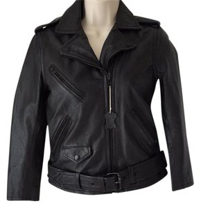 Divided by H&M Leather Leather Motorcycle Jacket