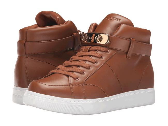 Item - Brown Swagger Richmond Hi Top Wedge Sneakers Size US 8