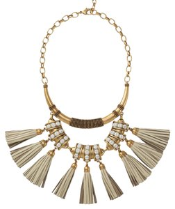 Stella & Dot Tribal Tassel Necklace