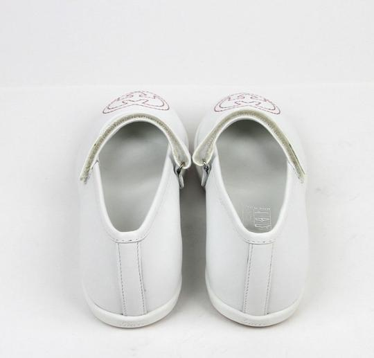 Gucci White Kids Leather Ballet Flat W/Interlocking G 24/Us 8 271304 Shoes