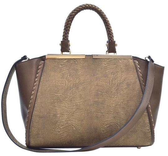 Preload https://img-static.tradesy.com/item/20730621/two-tone-winged-coffee-faux-leather-satchel-0-1-540-540.jpg