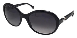 Chanel CH 5211 501 - PERFECT BLACK ROUND SUNGLASSES w/ PEARLS