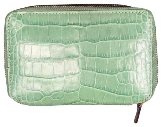 Kate Spade Green alligator jewelry pouch