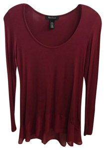 White House | Black Market Top red, maroon