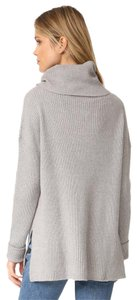 cupcakes and cashmere Vented Drop Long Sleeve Turtleneck Sweater