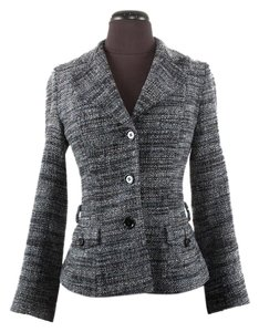 Dolce&Gabbana Wool Tweed Blue Navy Blazer