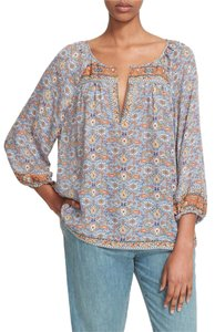 Joie Peasant Boho Relaxed Fit Top Multi color