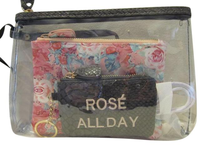 Under One Sky Pink-grey Survival Kit Pouch 3-piece Set with Tag Cosmetic Bag Under One Sky Pink-grey Survival Kit Pouch 3-piece Set with Tag Cosmetic Bag Image 1