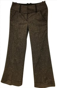 bebe Flare Pants Brown Grey