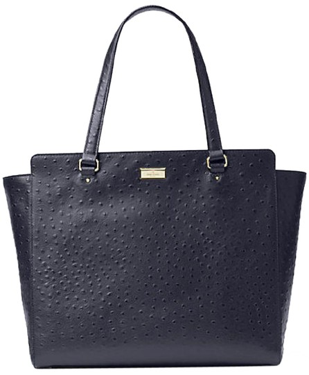 Preload https://img-static.tradesy.com/item/20730848/kate-spade-bristol-drive-ostrich-elissa-blue-leather-tote-0-1-540-540.jpg