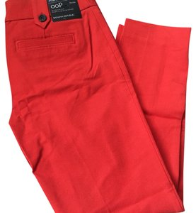 Banana Republic Straight Pants red orange
