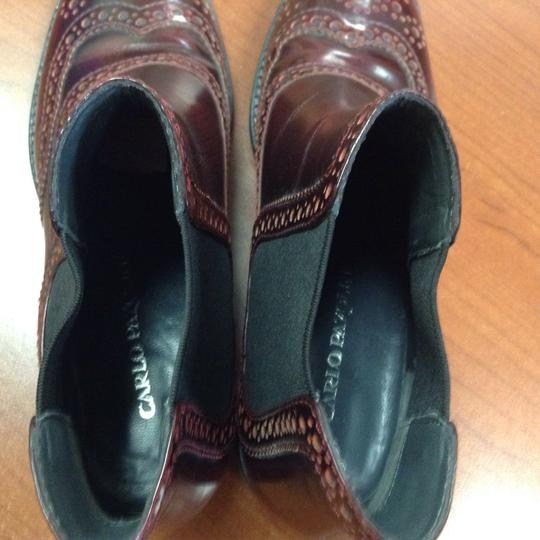 Carlo Pazolini Leather Patent Leather Oxford Burgundy Boots