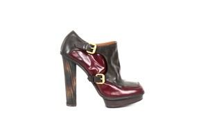 Fendi Leather Brown & Red Boots