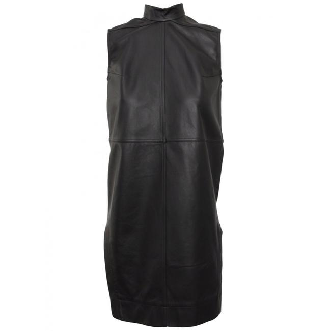 Preload https://img-static.tradesy.com/item/20730892/rick-owens-black-high-neck-leather-short-night-out-dress-size-6-s-0-0-650-650.jpg