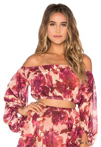 For Love & Lemons Romantic Off The Crop Date Night Top floral
