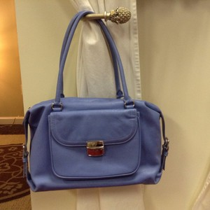 Levenger Tote Leather Organize Laptop Pebbled Satchel in Lavender