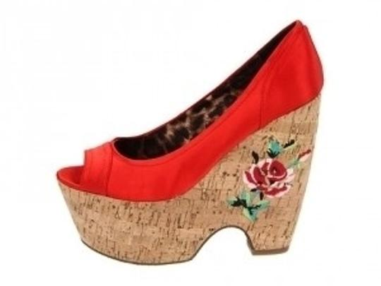Betsey Johnson Red Wedges