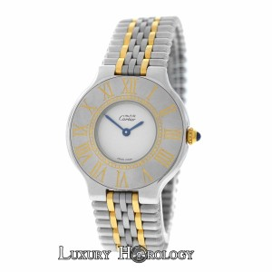 Cartier Genuine Ladies Must de Cartier 21 Midsize 123000P Gold Steel 31MM