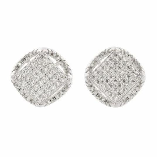 Other Mens Womens Sterling Silver Cz Stud Earrings Square Round Block