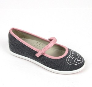 6275eb59ec2 Gucci Gray Kids Ballet Flat W Interlocking G 32  Us 1 271320 Shoes