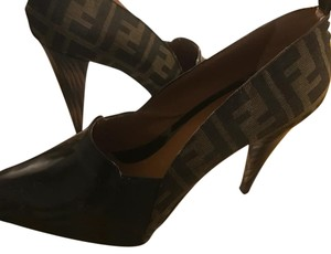 Fendi black & zucca canvas Pumps