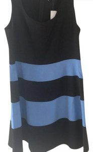 Ann Taylor LOFT short dress black and light blue on Tradesy