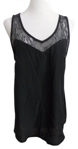 H&M Lace Trim New With Tag Top Black