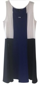 The Limited short dress royal blue, navy blue, and white on Tradesy