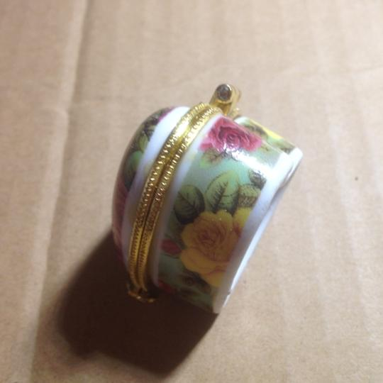 Multicolor Bogo Hand Painted Heart Porcelain Jewelry Ring Box Free Shipping