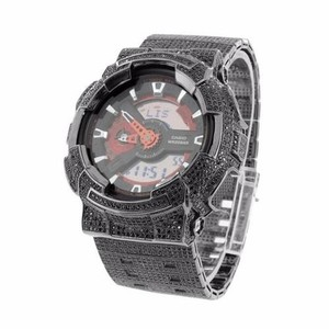 G-Shock Mens Black Custom G Shock Watch Analog Digital Ga110nm-4a Iced Out