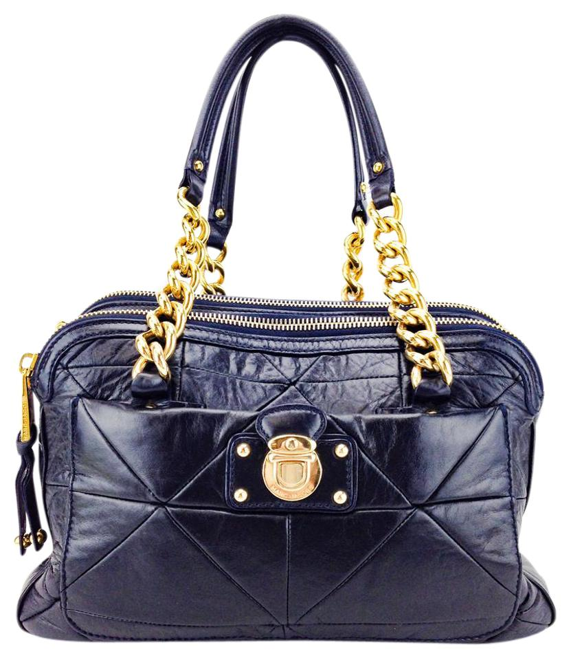 f8ff511089f9 Marc Jacobs Push Lock Patchwork Quilted Leather Chain Link Shoulder Bag  Image 0 ...