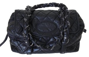 Chanel Quilted Logo Shoulder Bag